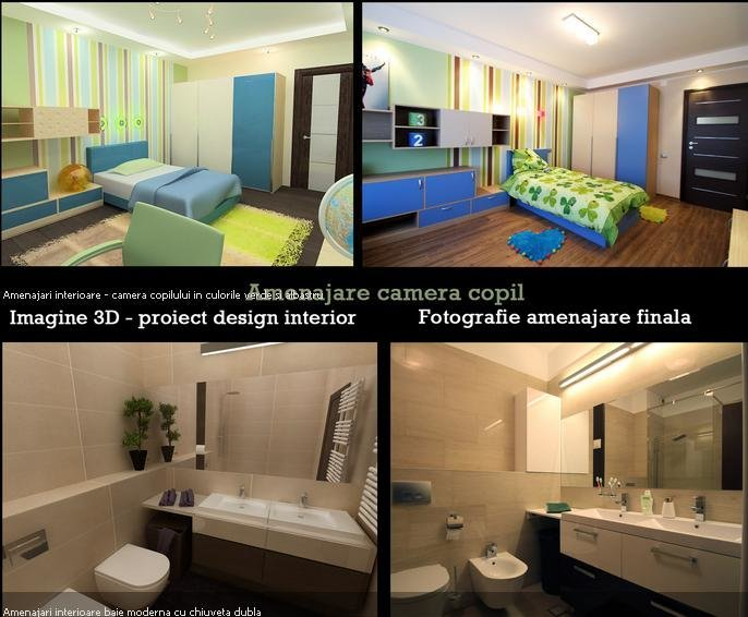 Amenajare cameră copil și baie