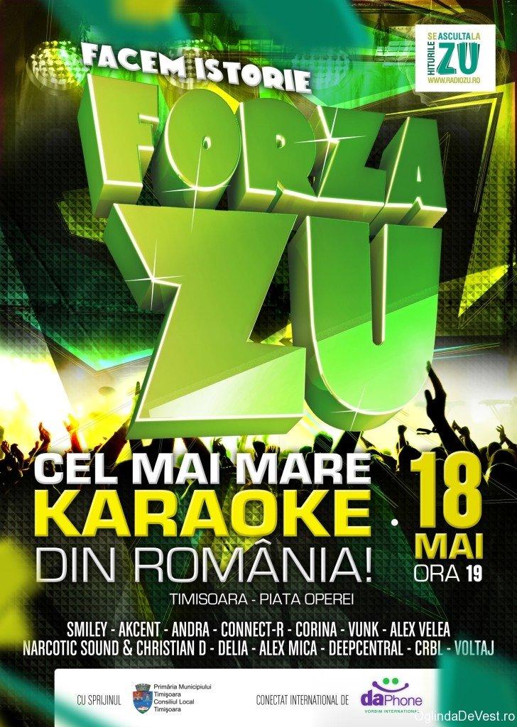 Cel mai mare karaoke din ţară, la Timişoara